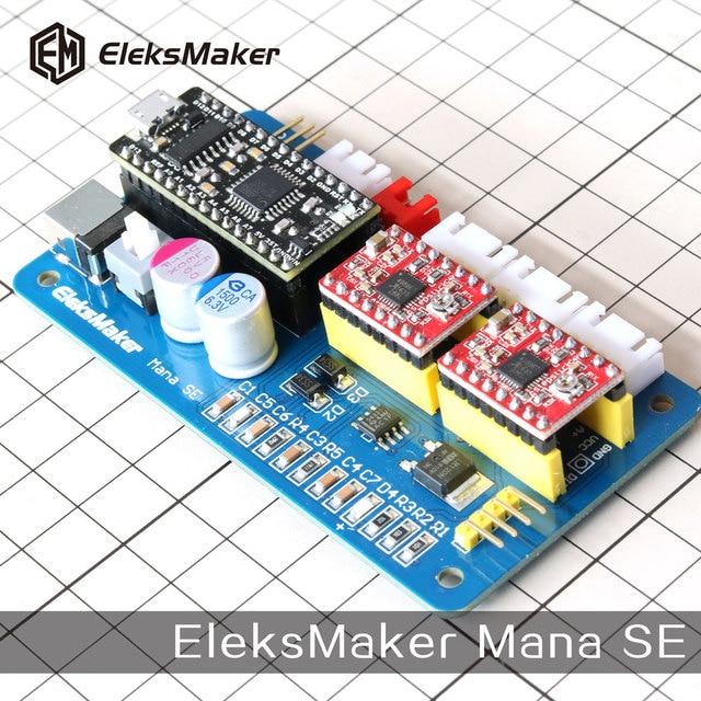 Eleksmaker Mana Se 2 Axis Stepper Motor Drive Control Board For Cnc Arduino Grbl Benbox Laser Engraving Machine