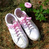 1pair Flat Candy Color Gradient Changing Colors Shoe Laces Party Camping Boots Shoelace Canvas Strings Growing Canvas Strings Shoelaces