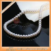 Classic 18 pulgadas Grandes Perlas de agua dulce perlas gargantillas collar de perlas de diámetro 10-11mm con larga delgada caja de regalo