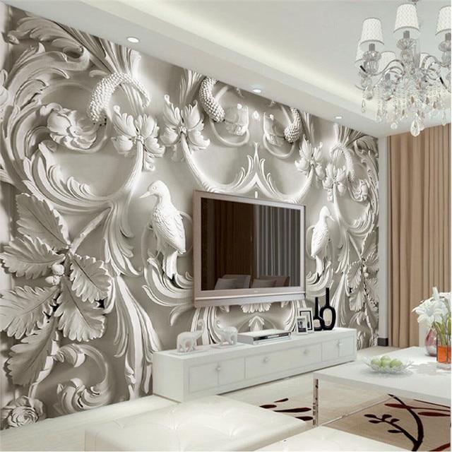 Moderne Peinture Pour Salon Fond Photographie Hd Fleurs En Relief D