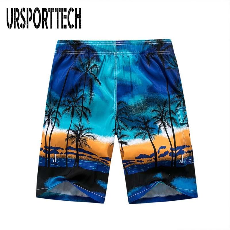 Summer Quick-drying Board Shorts Trunks Mens Beach Shorts Fashion Printed Beach Shorts Briefs Homme Short