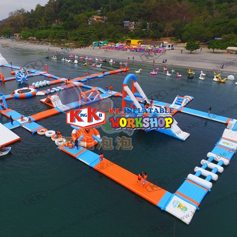 Open Water park floating trampoline Large inflatable water park