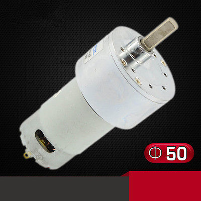 ZGB50RH Gear <font><b>Motor</b></font> 50mm Miniature DC Gear <font><b>Motor</b></font> 12V24V Eccentric Shaft Speed 20/<font><b>50</b></font>/135 <font><b>RPM</b></font> image