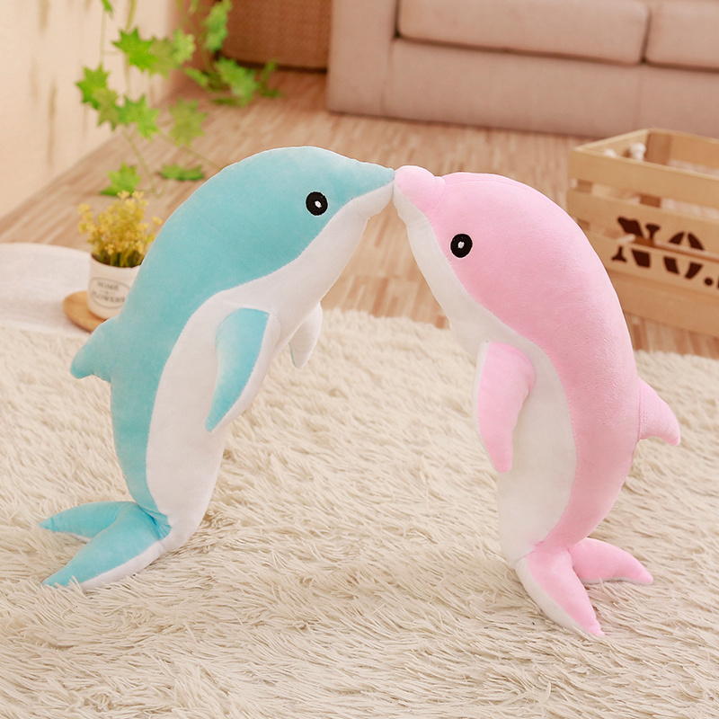 30cm Cute Soft Pink Dolphin Plush Toy Marine Animals Stuffed Toys Children's Toys Sofa Pillow Cushion Home Decor Gift