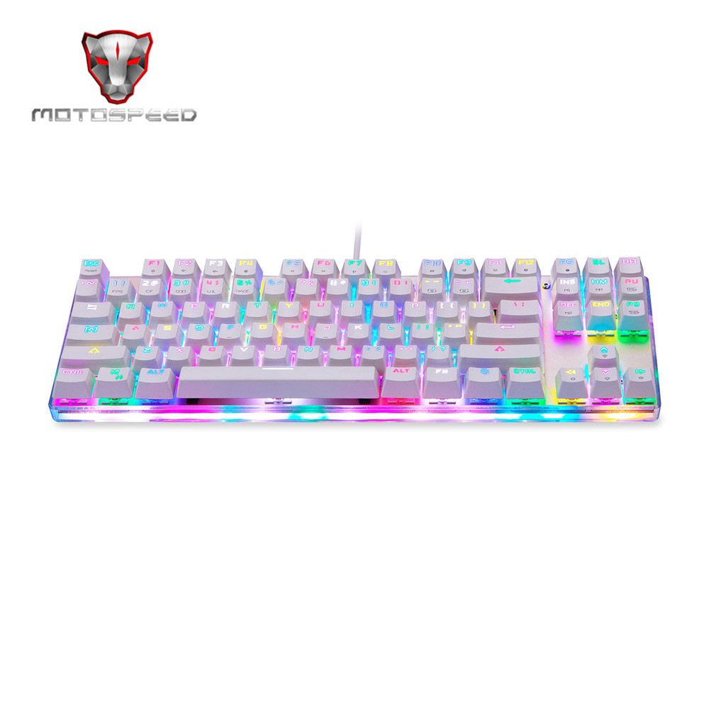 motospeed k87s usb wired mechanical keyboard blue switches gamer keyboard with rgb backlight 87. Black Bedroom Furniture Sets. Home Design Ideas