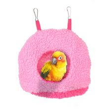 Pet Bird Soft Plush Parrot Hammock Warm Hanging Bed Cage Pad Mat Cave Hut Tent Toys House Bird Parrot Hammock Bed Toys(China)