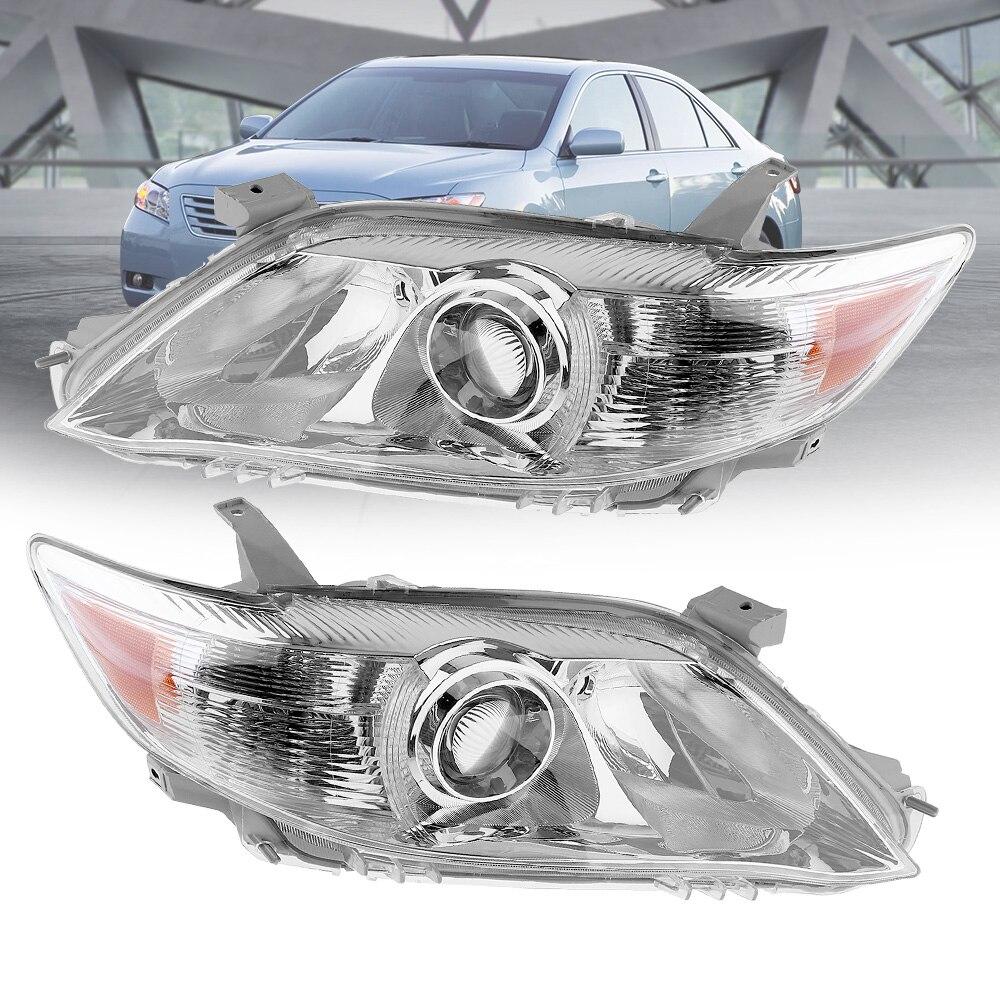 Image 2 - Водонепроницаемые крепкие фары прозрачный проектор левый и правый 2 шт Замена фар США Встроенная модель-in Передние светодиодные фары для авто from Автомобили и мотоциклы