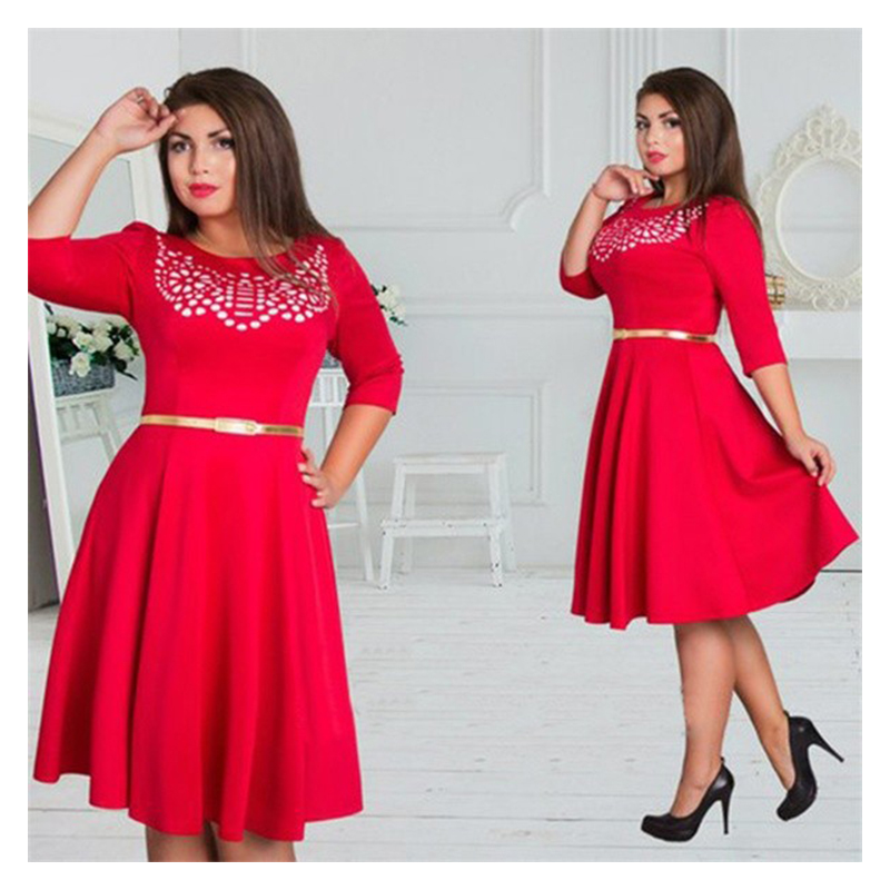 Pink Knee Length Dresses For Plus Size Women Dresses For Woman