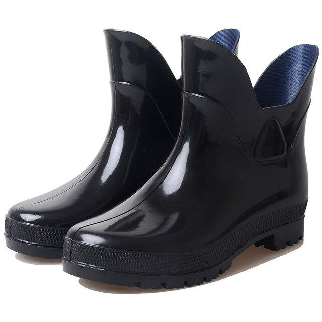 sports shoes bbcdf 65e2c US $29.0 |Uomo nero PVC stivali da pioggia stivaletti impermeabili lavaggio  stivali per l'uomo in Uomo nero PVC stivali da pioggia stivaletti ...
