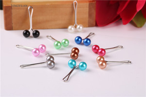 Image 4 - sp41 12 Pcs Muslim Hijab clip Trendy Dual Fashion Brooches  Scarf Clip Alloy Brooch Garment Accessories Women Ladies Brooches