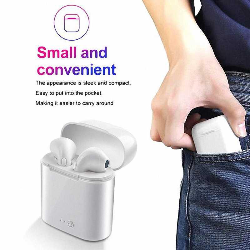 Kolorowe i7s tws zestaw głośnomówiący słuchawki douszne słuchawka bezprzewodowa Bluetooth słuchawki bezprzewodowe słuchawki z mikrofonem połączeń słuchawki