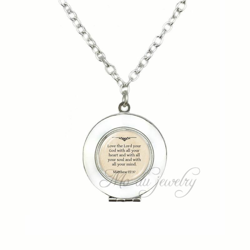Photo cabochon verre argent Populaire Pendentifs Collier ( LOVE JESUS )