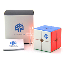 Original Gan 249 V2 M 249M Magnetic Cube Black Magic Puzzle 2x2x2 Competition Toys Cubo 2x2 Speed By Magnets Games