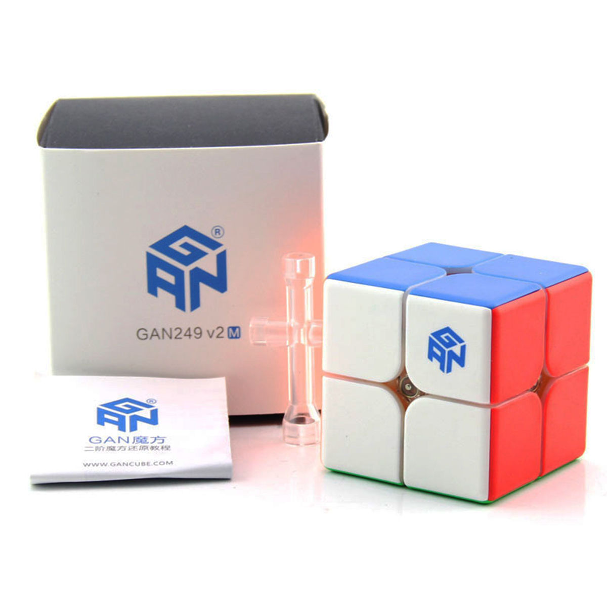 Originele Gan 249 V2 M 249 M Magnetische Cube Black Magic Cube Puzzel 2x2x2 Concurrentie Speelgoed Cubo 2x2 Speed Cube Door Magneten Games