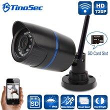 Главная Безопасность Мини Беспроводной 720 P АБС-Пластиков Ip-камеры Wifi Открытый пуля ИК P2P С Ик-Фильтр Камеры С TF Слот Для Карты