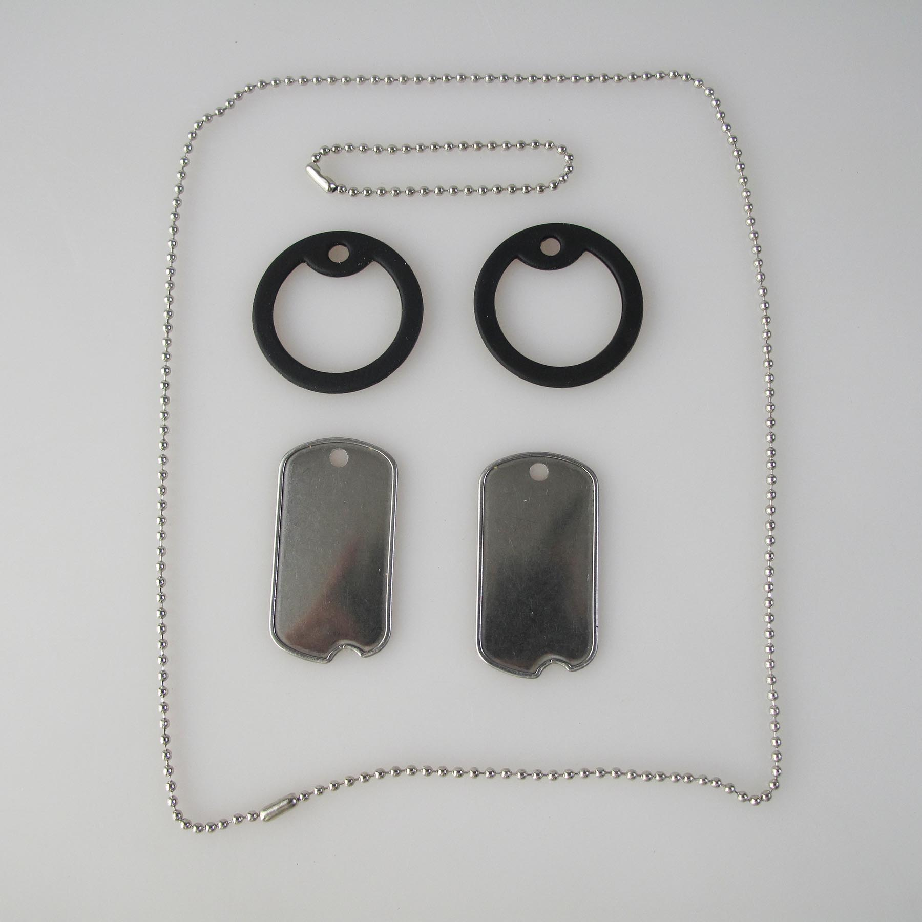 Mens Dog Tags Army Dog Tag /Stainless Steel Dog Tag Rolled Edges With An Indentaion