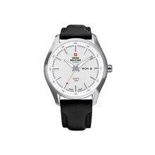 Наручные часы Swiss Military SM34027.06 мужские кварцевые на кожаном ремешке