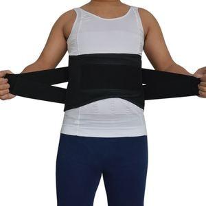 Image 3 - Y015 נשים גברים אלסטי מחוך בחזרה המותני Brace תמיכת חגורת אורטופדי היציבה חזור מותן חגורת תיקון בטן XXXL