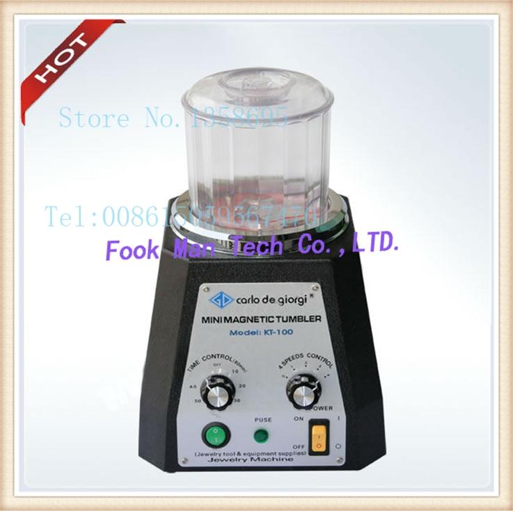 kt100 Magnetic Tumble, Mini Magnetic,Jewelry Polisher Finisher Finishing machine,Jewelry Polishing Machine цена
