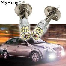 6500K White H1 Light NO Error Super Bright Fog Driving Lamp 3014 36SMD Car LED Bulbs 7.2W Auto Lamps 1pair Running Light