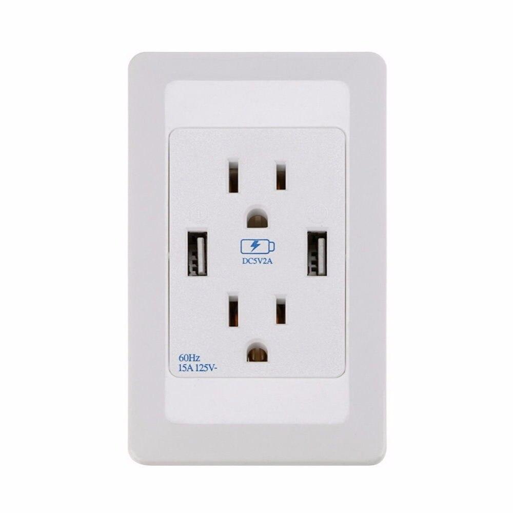 Dual <font><b>USB</b></font> порт розетке устройство переменного тока розетка панели плиты станции P34