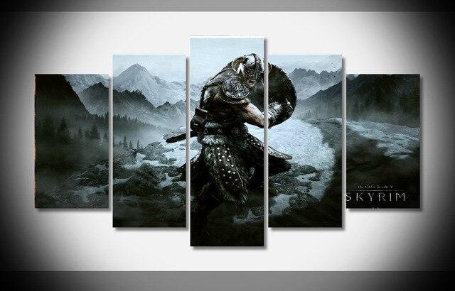 7395 Elder Scrolls Skyrim Poster Framed Gallery Wrap Art