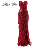 2019 Long Mermaid Prom Dresses Women Formal Evening Gown Sequins Elegant Prom Gown