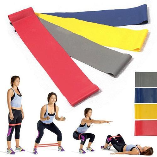 New 4 Pcs Resistance Tube Set Gym Fitness Exercise Workout Heavy Yoga Training Bands Gift