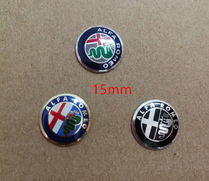 1X 15mm Gold Green Black ALFA ROMEO Car Logo Key Fob Emblem Badge Sticker for Mito 147 156 159 166 Giulietta Spider GT Brera