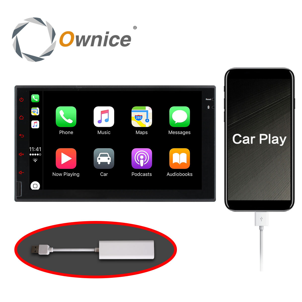 Ownice IOS Phone Radio Car play Connect by USB Support Touch and Voice Control Only for Ownice Car DVD Only radio pharmaceuticals and radio opaque contrast media