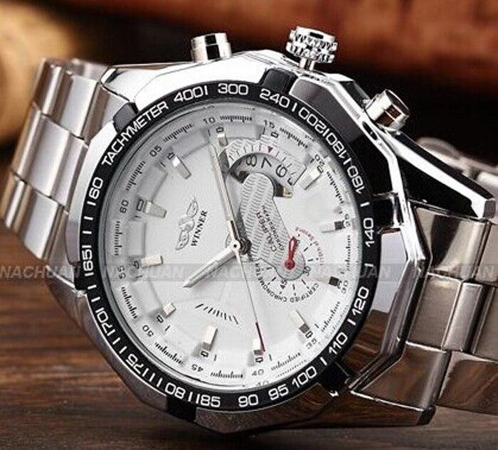 2018 Fashion Men montre Winner Brand horloges mannen Stylish Skeleton Classic Automatic relogios clock men Mechanical Watch 1