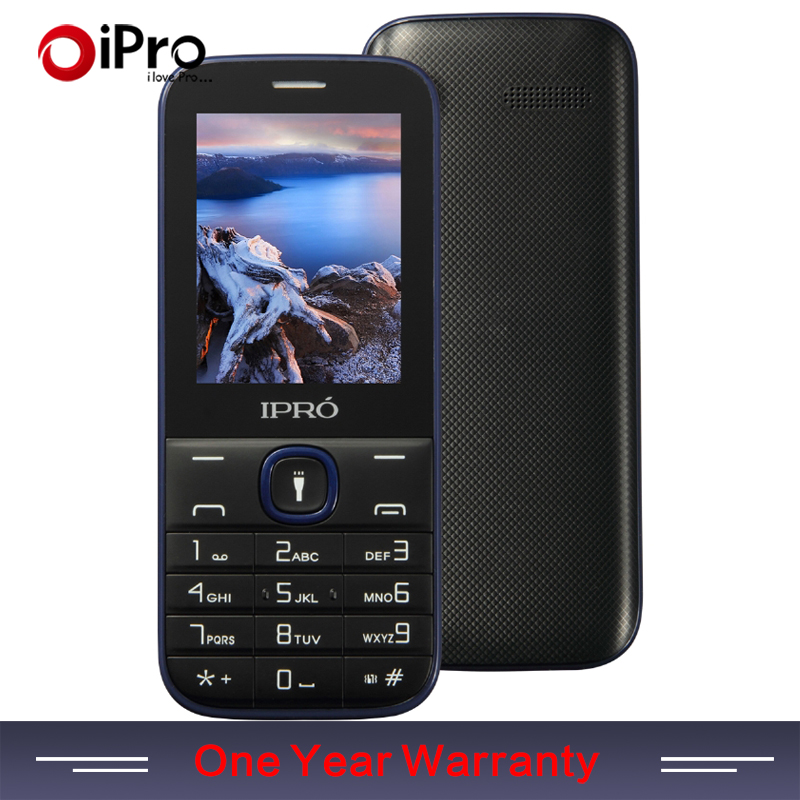 2016 IPRO Phone 2 4 Inch Elders Mobile Phone Celular English Spanish Portuguese GSM Dual SIM