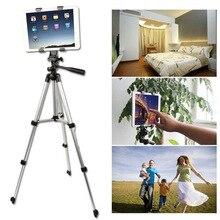 Высокое качество гибкий 4 секции штатив камера монопод подставка с зажимом для DV видео регистраторы Ipad держатель мобильного телефона