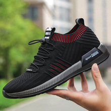New Brand Summer Men Socks Sneakers Beathable Mesh Male Walking Shoes Lace Up Sock Shoes Loafers Boys Super Light Sock Trainers 2018 new brand summer men casual shoes beathable mesh male casual shoes lace up shoes man super light shoes 5