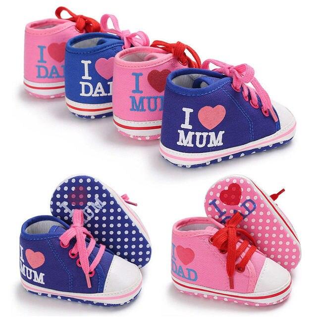 786d08cc99dc35 J'aime maman et papa belles chaussures de bébé pour garçons filles chaussure  enfants sapatinhos