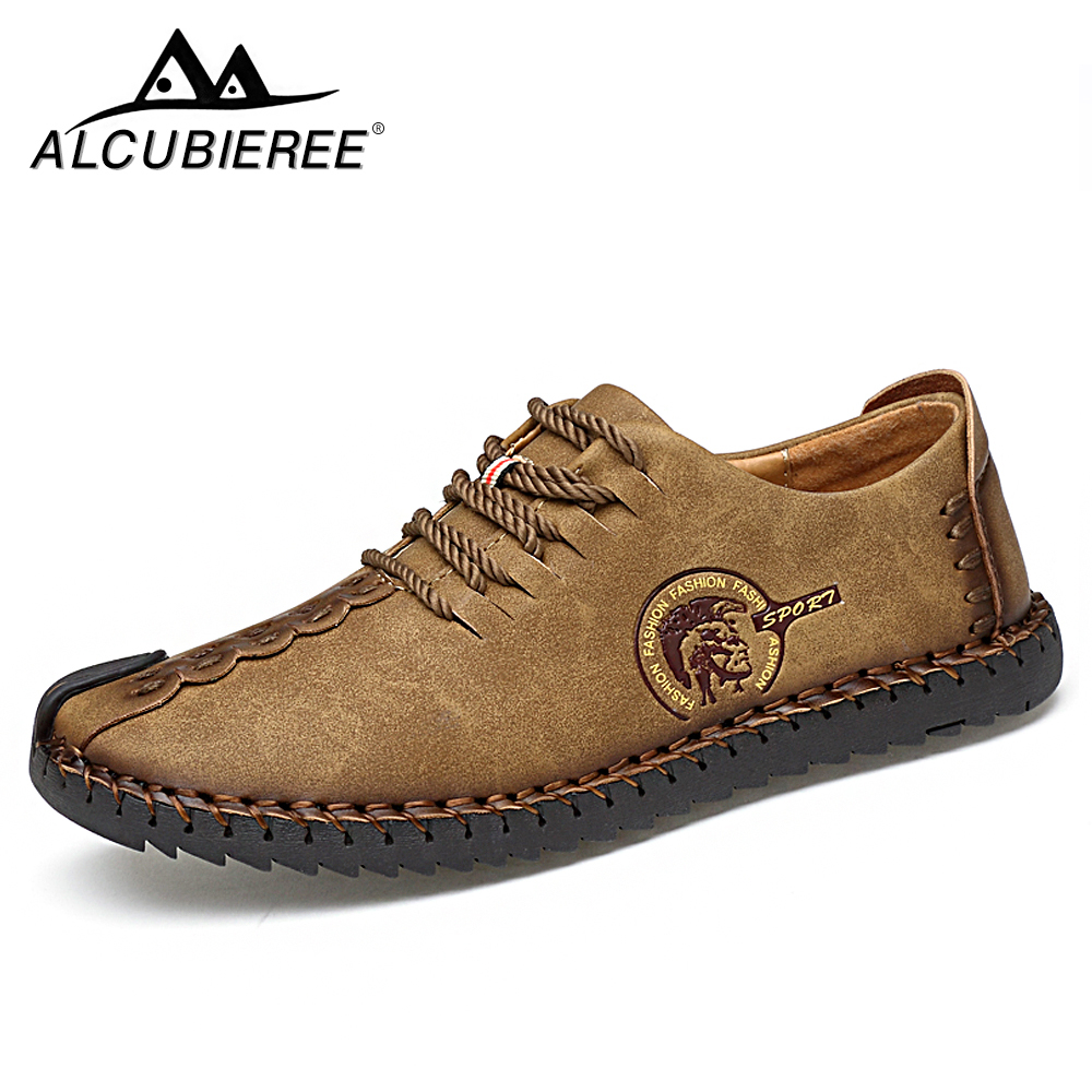 Summer Casual Lace Up Shoes Men Leather Walking Boat Shoe Loafers Moccasins Flats Shoes Men Luxury Brand Hot Sale Fashion 2019