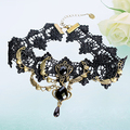 Women's Vintage Gothic Steampunk Choker Lace Heart Wing Teardrop Collar Necklace smt102