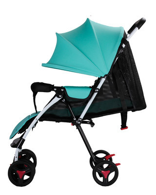 Child baby stroller ultra portable and simple small sitting lying baby carriage folding baby BB four wheel vehicle