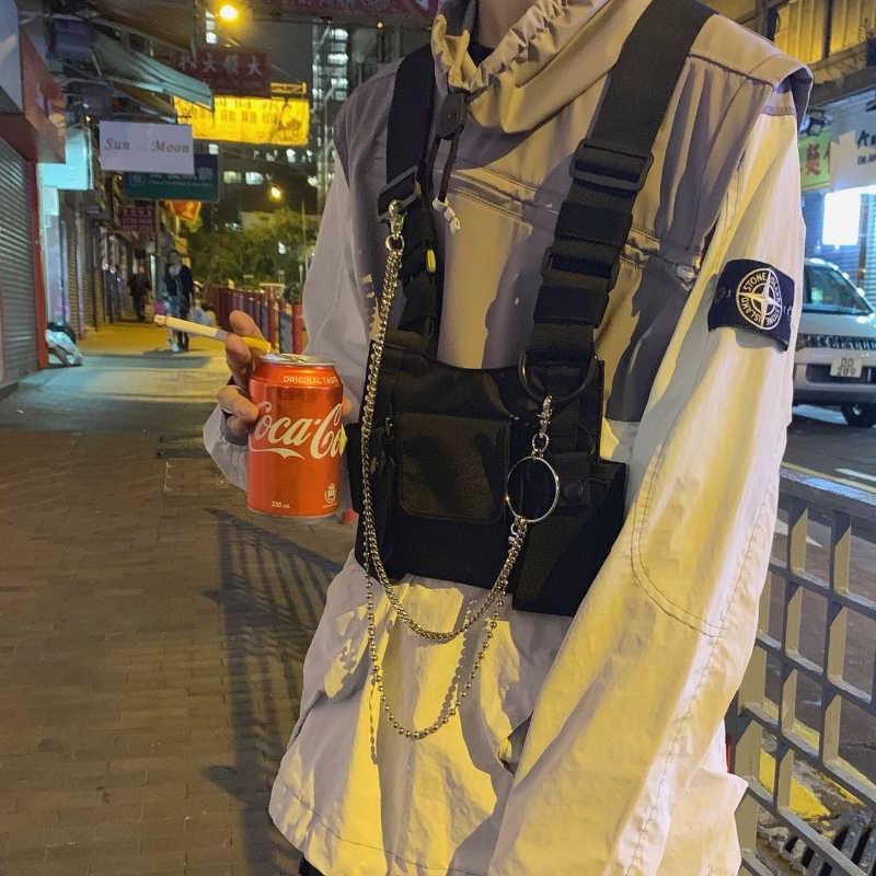Taktis Rompi Nilon Militer Rompi Dada Rig Pack Model Taktis Harness Walkie Talkie Radio Pinggang Pack untuk Dua Arah radio