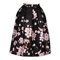 2016 Summer New Fashion 3d skirt women High Waist A-line Skirts flower bird weed galaxy printed clothes brand design party skirt