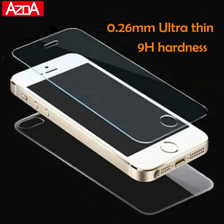 2pcs/lot front+back Tempered Glass For iPhone 5 5S 6 6s 7 plus 4 4S Screen Protector Film Full Body Glass On the For iPhone SE