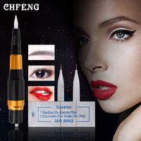 Electric Machine Pen Permanent Makeup Kit with Needles Tips Alloy Eyebrow Lip Liner Beauty Microblading Tattoo Equipment Set