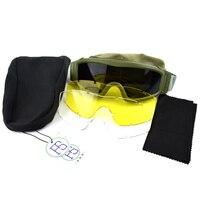 Airsoft Paintball sportowe okulary taktyczne wojskowe walki oczu okulary ochronne wiatroszczelne okulary sportowe na świeżym powietrzu w Okulary turystyczne od Sport i rozrywka na