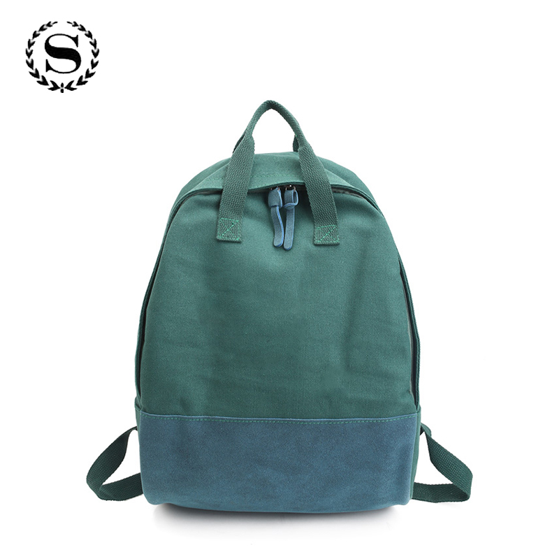 SCIONE Fashion Canvas Backpack Teenage Girls School Bags Top Trends Back Pack Large Capacity Female Student Schoolbag Rucksacks