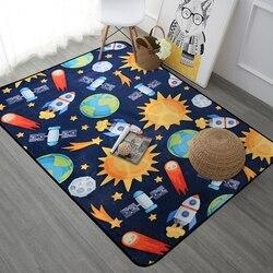 Espaço universo planeta dos desenhos animados tapete para sala de estar tapete macio caçoa tapetes bonitos para o quarto cadeira computador floro esteira/tapete