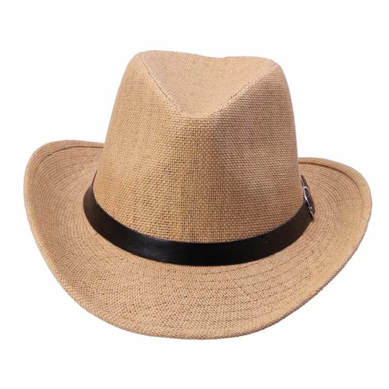 # Vestido 2017 Summer tops Caps Men Straw Cowboy Women's Hats Fedoras Wholesale17
