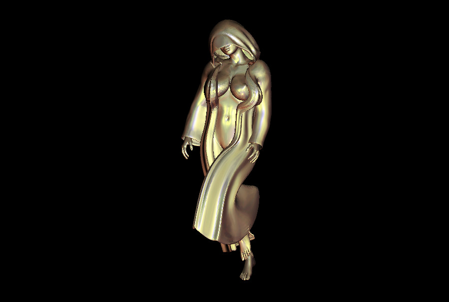 3d Model Dance Woman 4 Aixs CNC Router Relief Carve Mould STL Format File M305