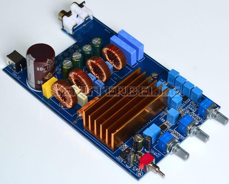 TPA3255 Class D Audio Power Amplifier Board Stereo 2.1-channel HiFi Amp Board pqd6 q48 s15 d power supplies board mount mr li