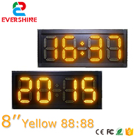 Semi outdor RF& TCP/IP 8 inch Digital/time/temperature LED display board