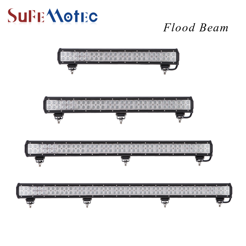 SufeMotec 144W 180W 234W 288W 23'' LED Work Light Bar for Indicators Driving Offroad Boat Car Tractor Truck 4x4 SUV ATV 12V 24V 2017 48w led work light for indicators motorcycle driving offroad boat car tractor truck 4x4 suv atv flood 12v 24v